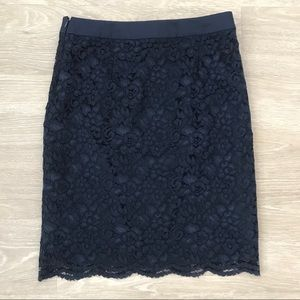 The Limited Women's Navy Lace Pencil Skirt - 2
